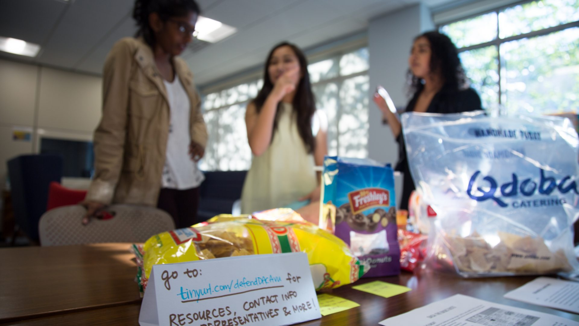 Event organizers offered snacks and other refreshments to participants.