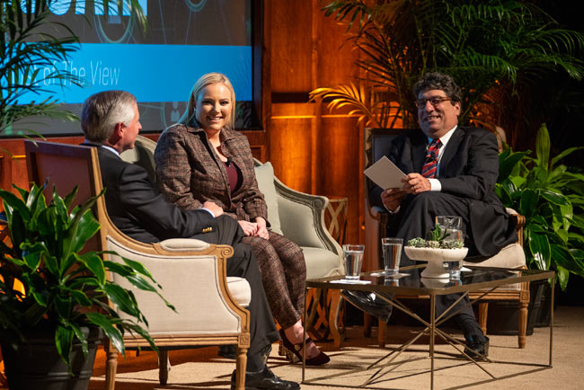 """There's not really a place for me politically."" — Meghan McCain at the Chancellor's Lecture Series"