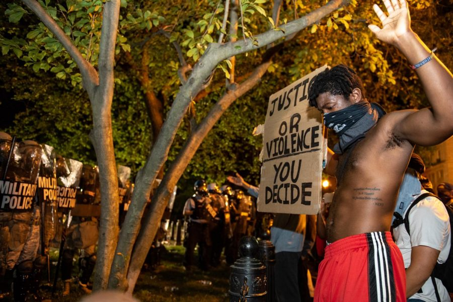 George Floyd protests in Washington DC. Lafayette Square on Saturday, May 30th (Rosa Pineda)