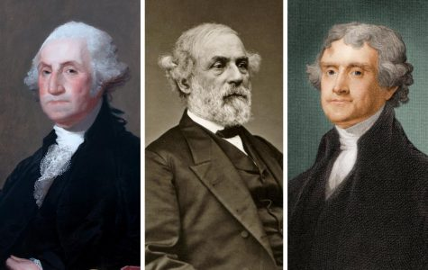 George Washington, Robert E. Lee, and Thomas Jefferson