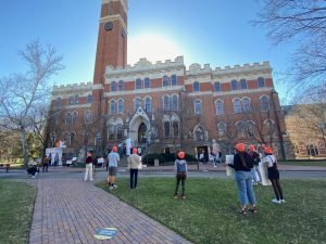 Divestment Protesters Converge at Kirkland Hall