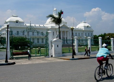 This is the presidential palace where President Moise currently resides as leader of Haiti.