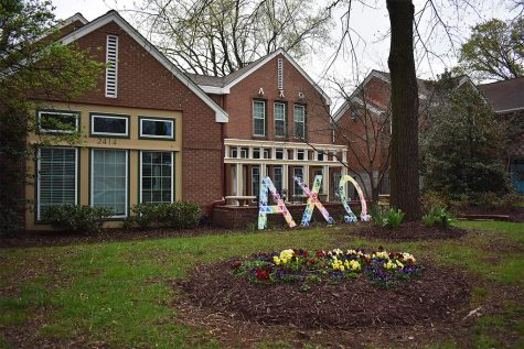 The Vanderbilt Alpha Chi Omega House, one of the houses the group selected to post their theses.