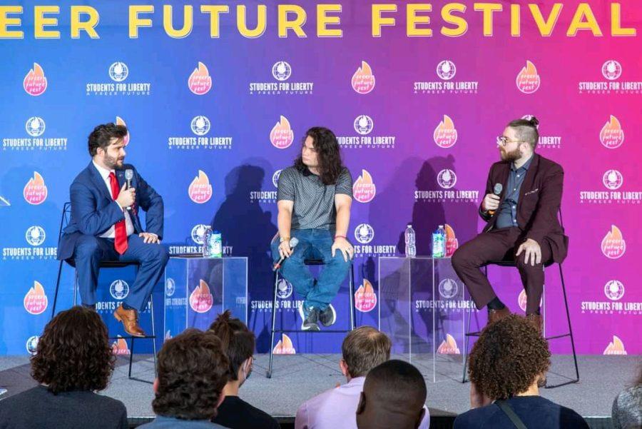 Bastiat (left) and Vaush (right) at Freer Future Fest.