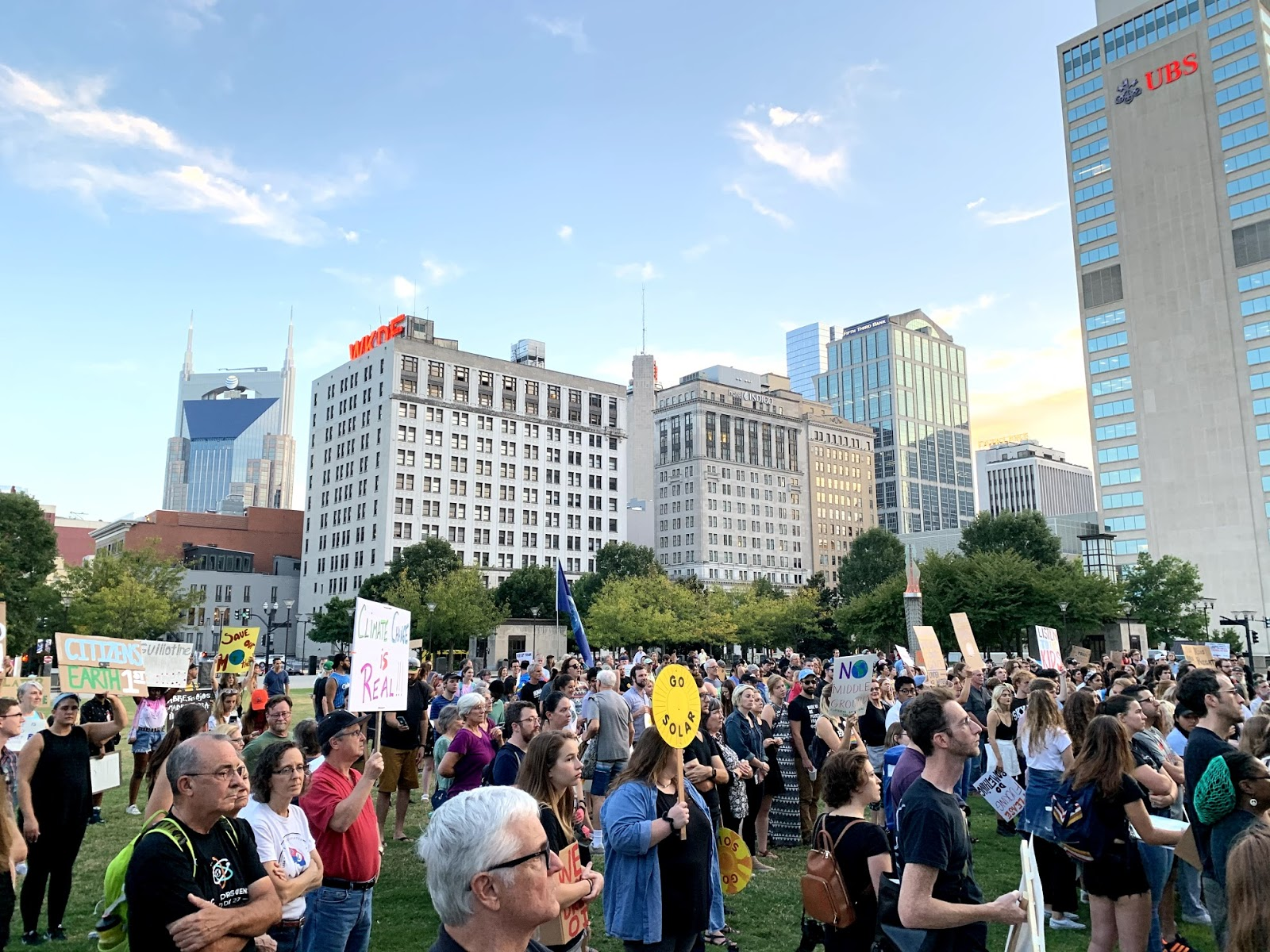 """We Need to Act Now!"": Climate Activists Strike for Change in Downtown Nashville"