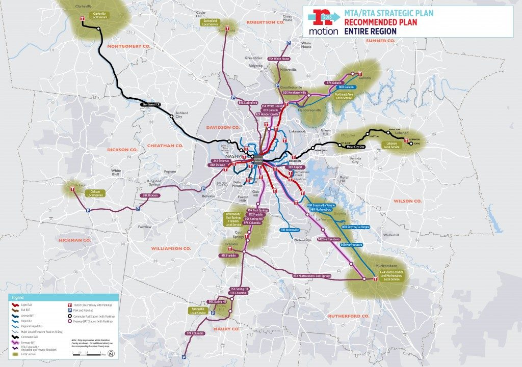 Nashville's nMotion transit plan from 2015.