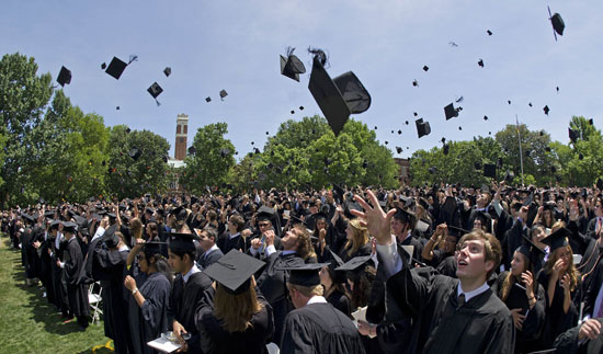 2012 Vanderbilt Commencement ceremony on Alumni Lawn.(John Russell/Vanderbilt University)
