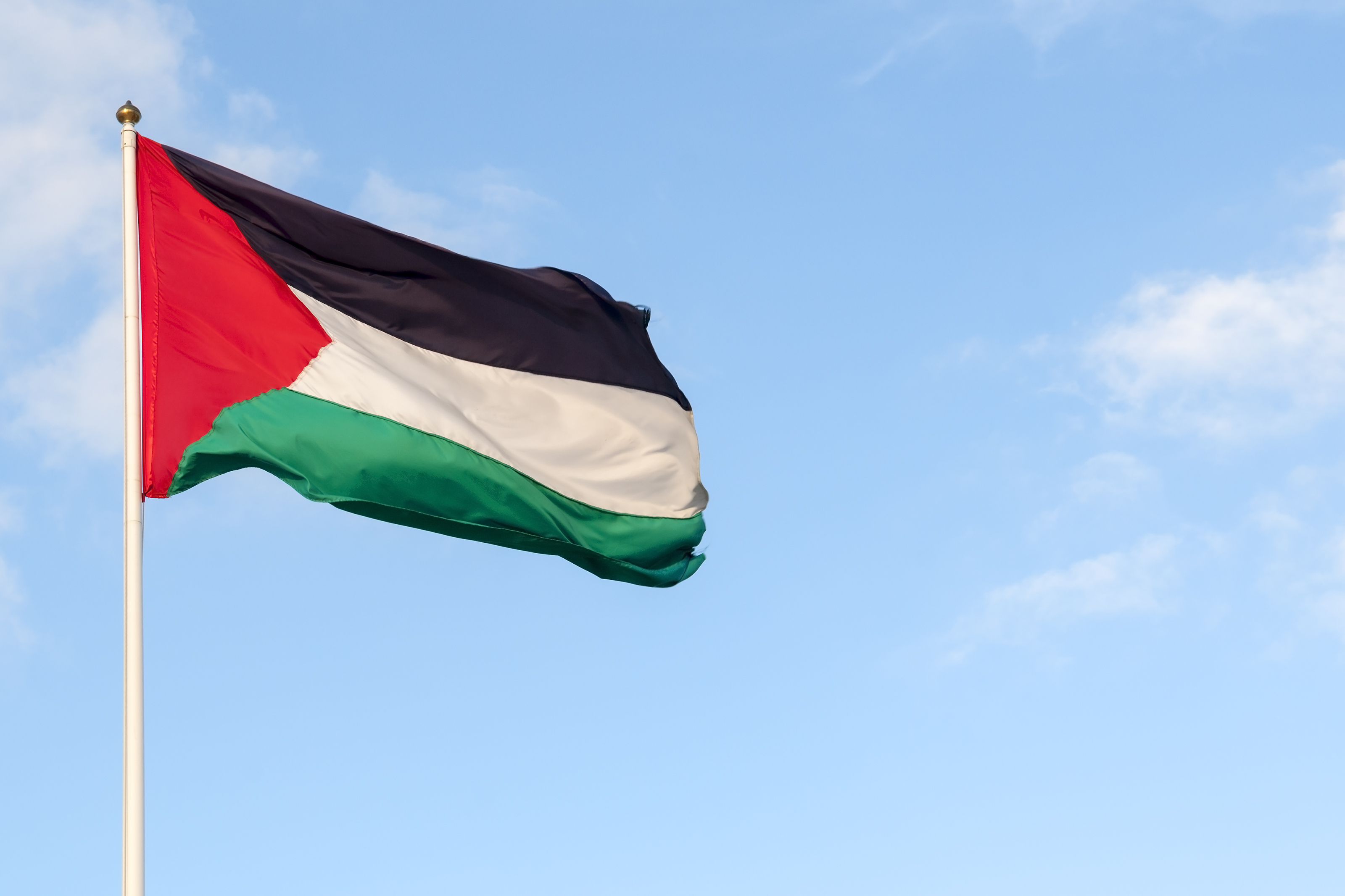 Palestinian flag and skyMore of my images from Jerusalem and the West Bank: