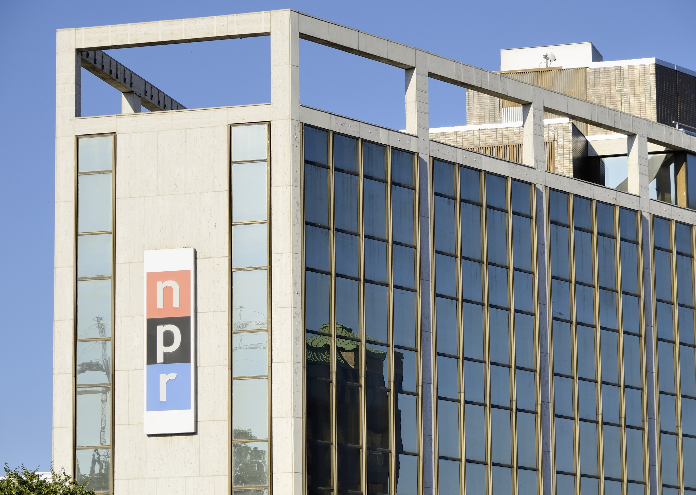 Washington DC, USA - June 4, 2012: The NPR (National Public Radio) building in Washington DC. Founded in 1970, NPR is a non-profit network of 900 radio stations across the United States.